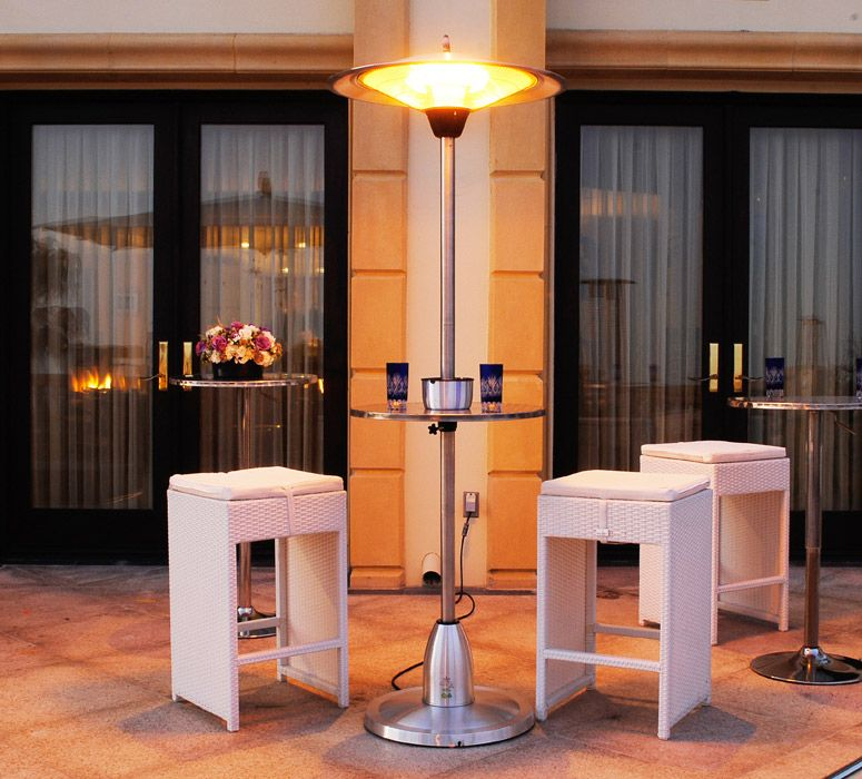 Lava Heat Electric Heater Patio Pub Table