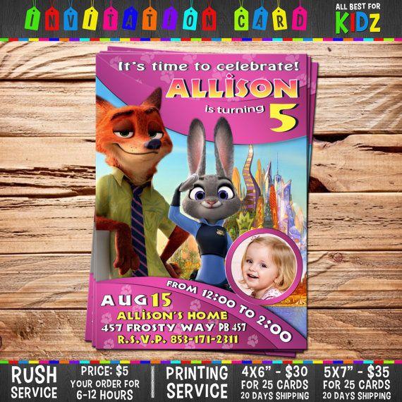 Disney Zootopia Invitation Card Birthday Party by AllBestForKidz - best of invitation card birthday party