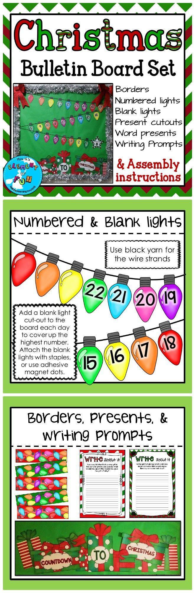 Christmas Countdown Bulletin Board Set - DECEMBER BB #decemberbulletinboards