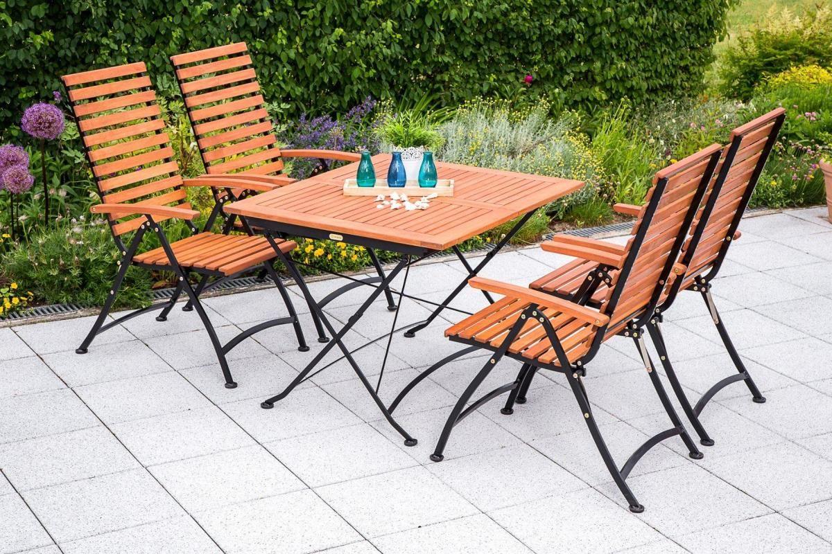 Merxx Gartenmobelset Schlossgarten 5 Tlg 4 Klappsessel Tisch Eukalyptus Ausziehbar Jetzt Bestellen Unter Https M Aussenmobel Gartenmobel Gartenstuhle
