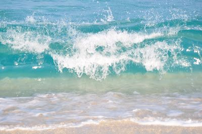 teal and turquoise waves