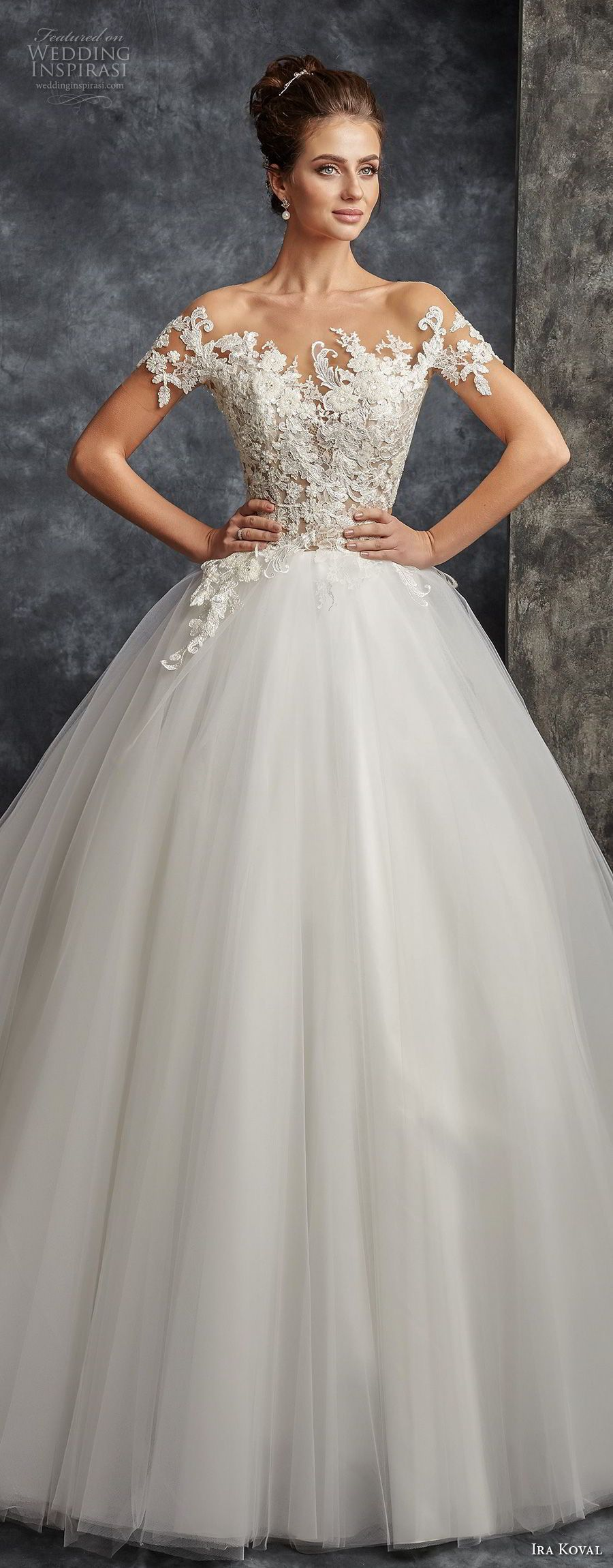 Ira koval wedding dresses chapel train ball gowns and bodice