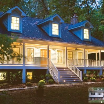 Traditional brick ranch house remodel photos design for Exterior design specialists