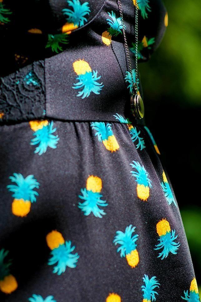 Suis Retour Une De Pour Robe Désolé L'été Ananas Et Je wx0OPXq70