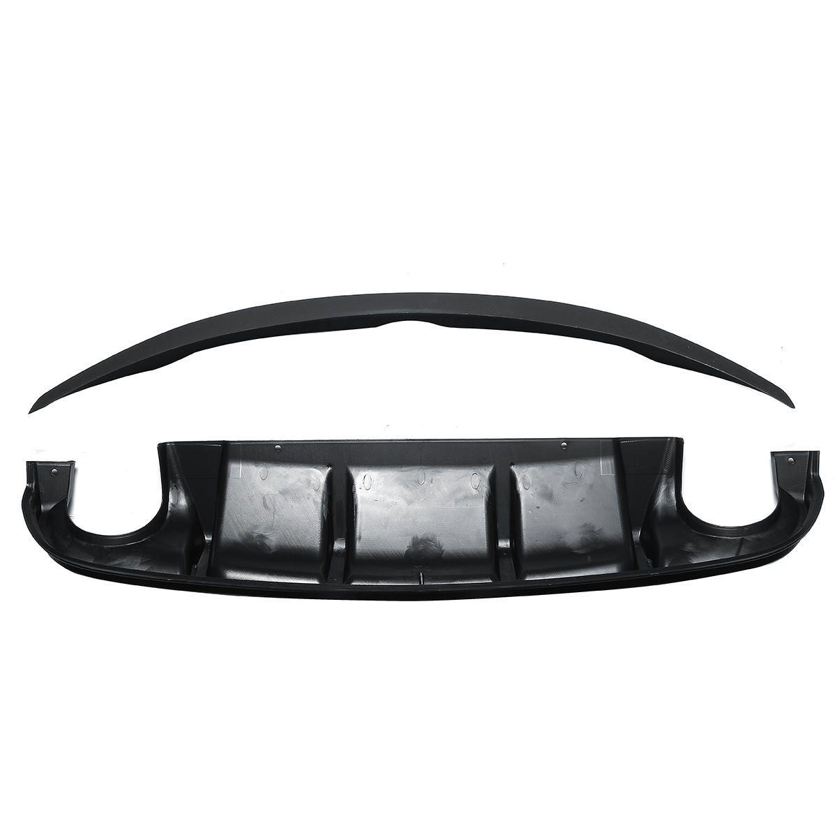AQ Style Rear Bumper Diffuser & OE Style Trunk Spoiler For