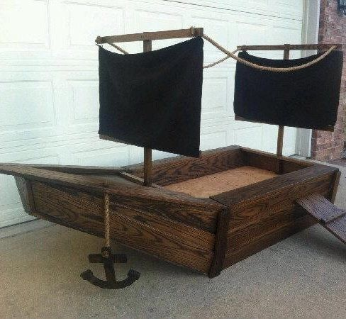 Pirate Ship Toddlers Bed Furniture In 2019 Pirate Ship Bed