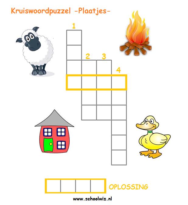 Beste Schoolwiz - Taaloefeningen groep 3 (2)   Kruiswoordpuzzel RK-14