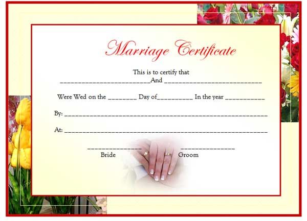 Marriage Certificate Template is hereby offered just to assist - samples certificate