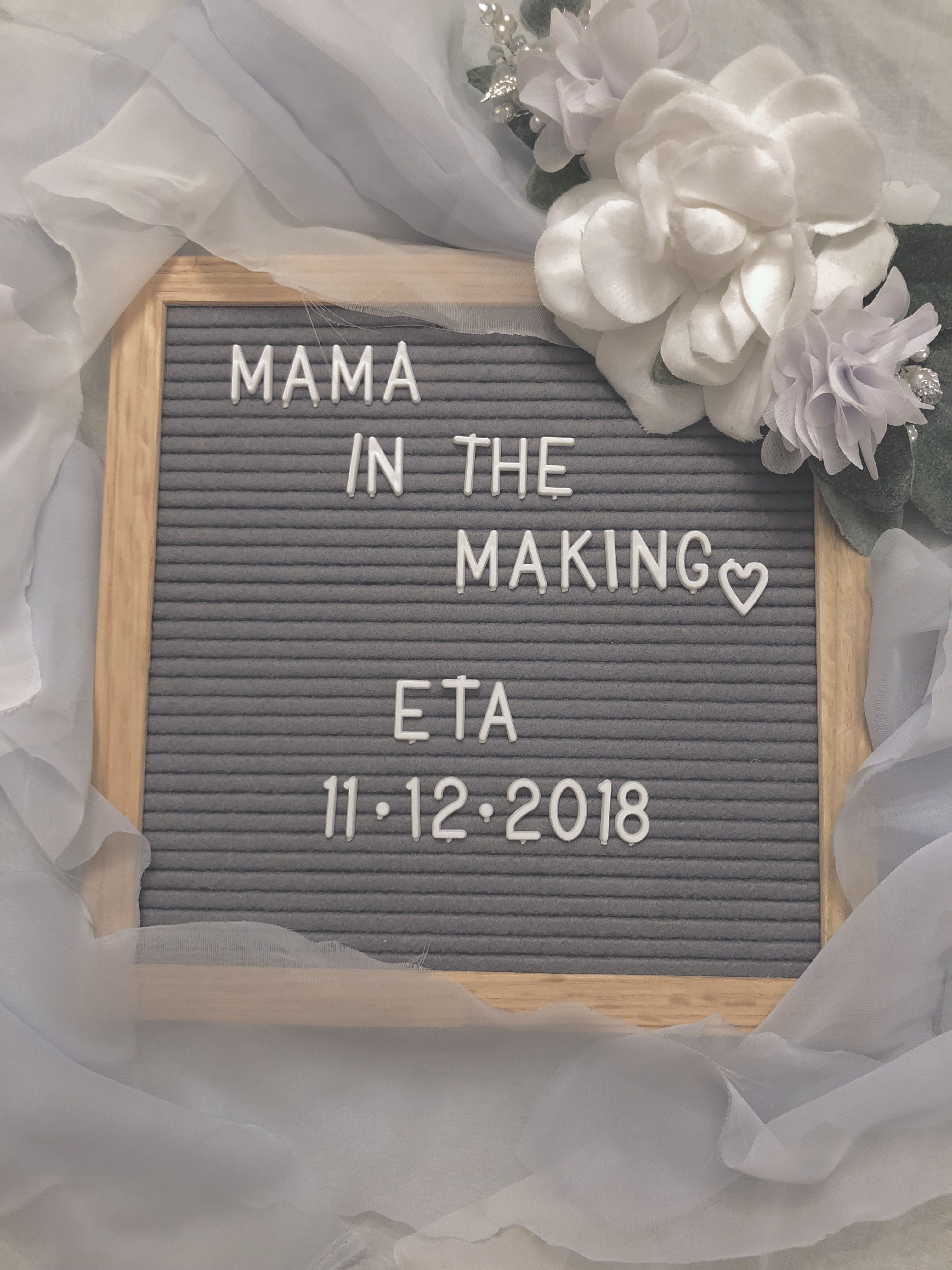 Pin on Pregnancy letter board