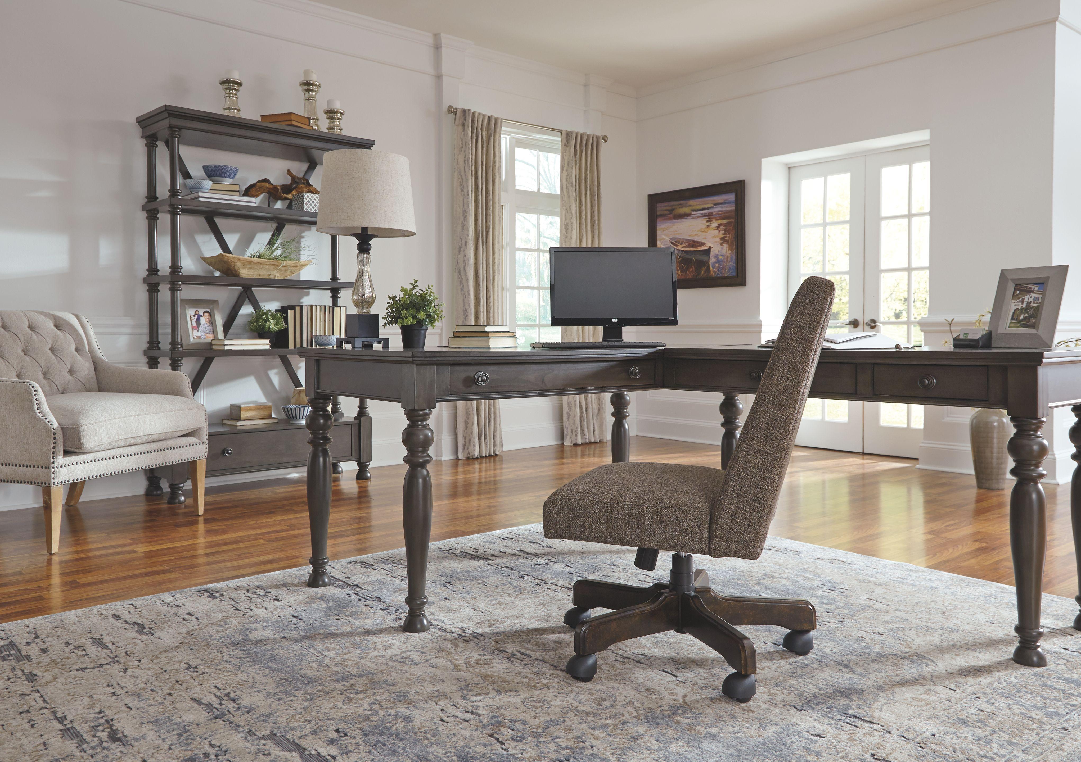 Devensted 2 Piece Home Office Desk Ashley Furniture Homestore Home Office Furniture Desk Home Home Office Desks