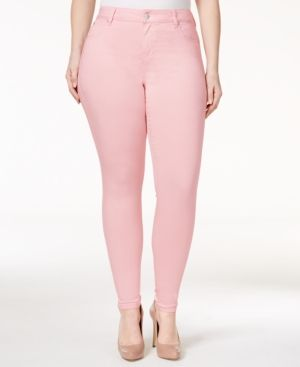 6f3b0664047dd Celebrity Pink Trendy Plus Size Colored Wash Skinny Jeans - Blue 16W ...