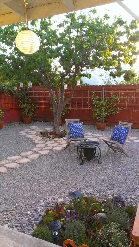 drought tolerant gravel garden