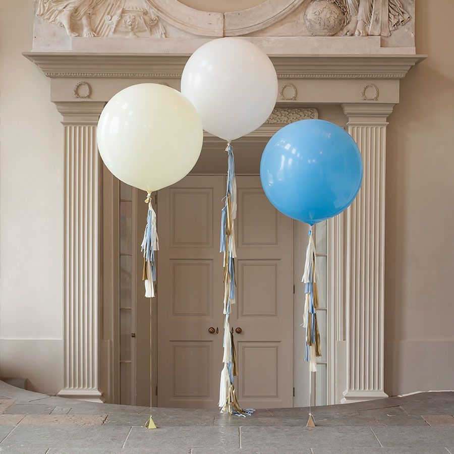 This Stunning Baby Boy Tel Tail Balloon Trio Of 3 Large Balloons Is Sent Out