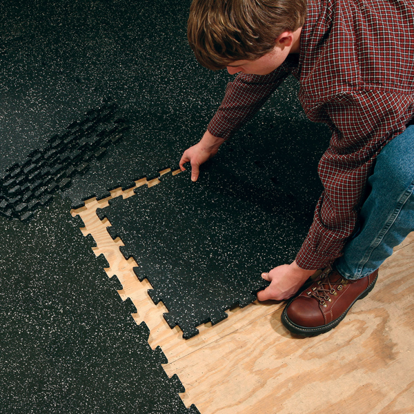 RF4PM Interlocking Rubber Flooring No weight is too