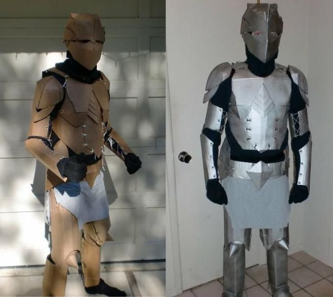 A Cardboard Knight's Costume … | Pinteres…