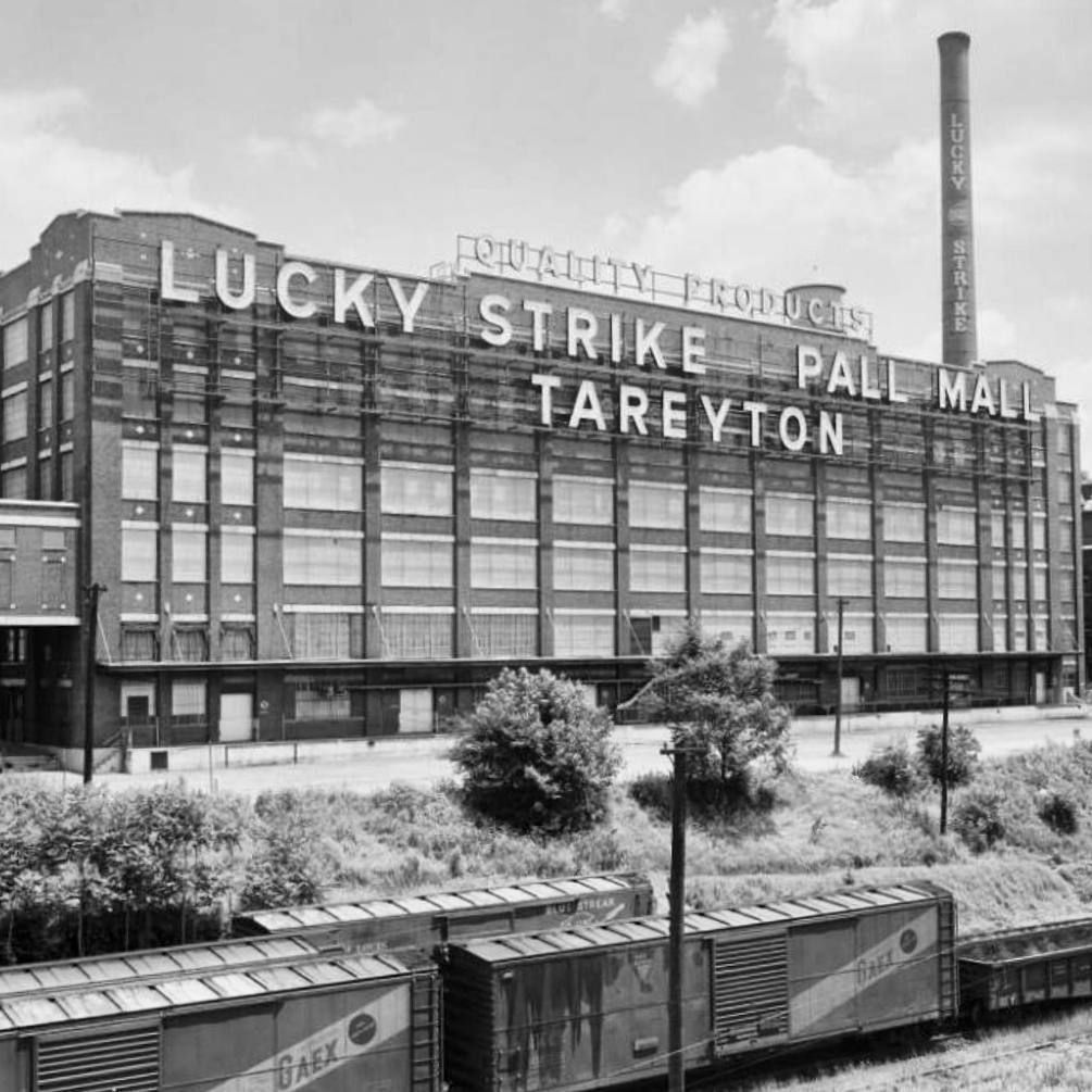 The Lucky Strike Factory In Its Heyday Circa 1950 Tobacco Row In
