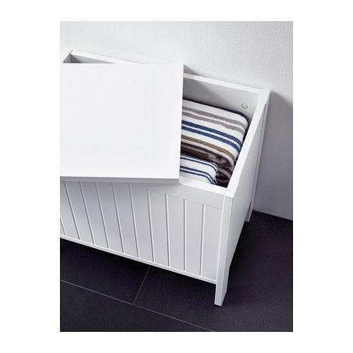 SILVERÅN Panca con vano contenitore, bianco | Banktruhe, Ikea und Truhe