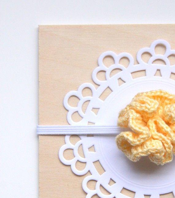PDF crochet flower pattern - carnation flower - baby headband ...