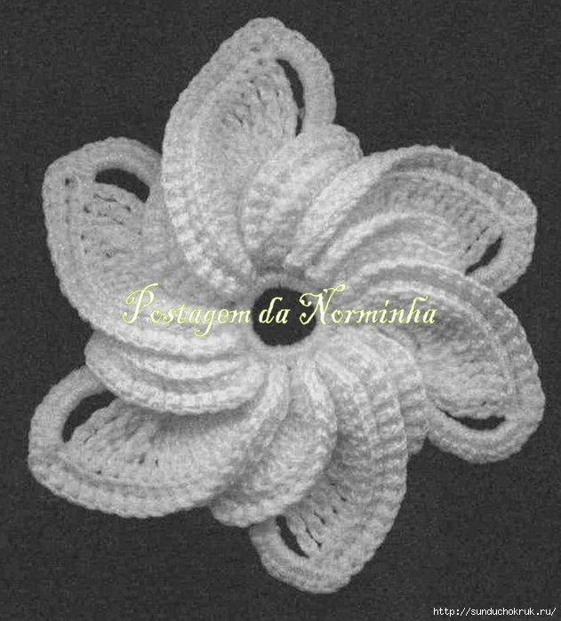 white crochet flower with diagram h keln pinterest h keln handarbeiten und geh kelte blumen. Black Bedroom Furniture Sets. Home Design Ideas