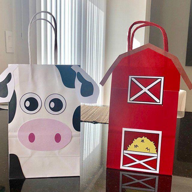 Farm Party Favor Bags Goo Goody Gift Decorations Diy Ideas Favors