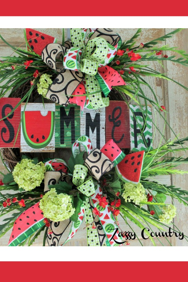May Wreaths & Centerpieces - Everyday wreath, Watermelon decor, Wreath decor, Summer decor, Spring floral decor, Summer wreath - Welcome to the May 2019 showcase of beautiful wreaths and centerpieces! These stunning creations were made by designers in the Trendy Tree Marketing