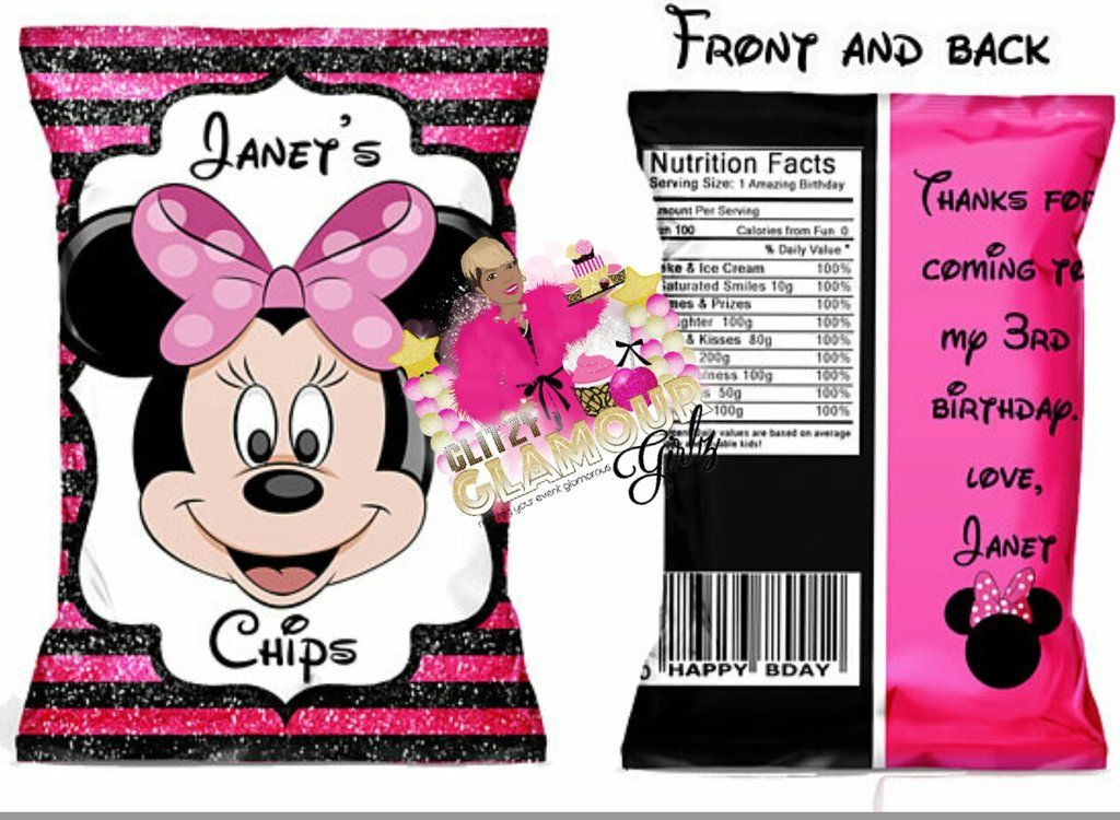 Minnie Pink Chip Bag Minnie Pink Chip Bag