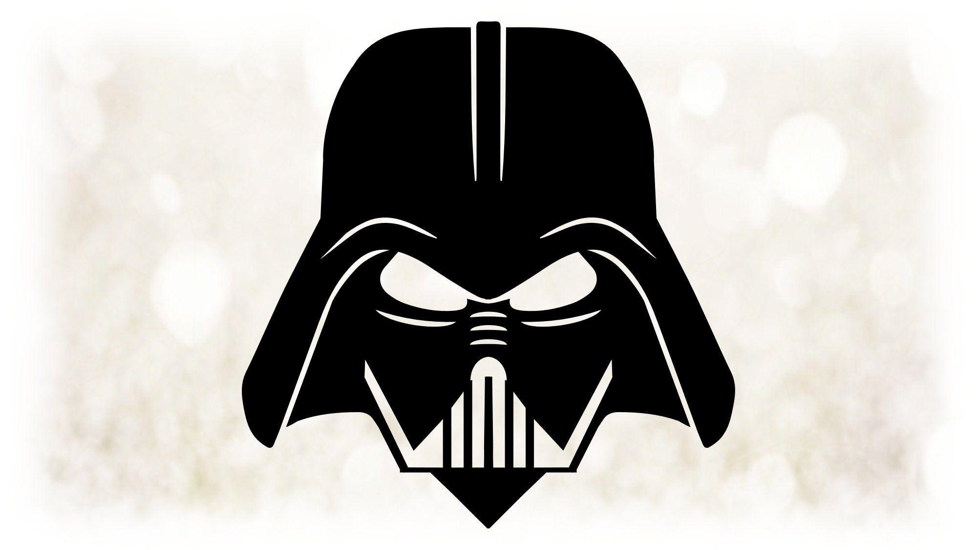 Movie Clip Art Black White Darth Vader Mask Master Of Etsy Darth Vader Face Star Wars Stencil Darth Vader Mask