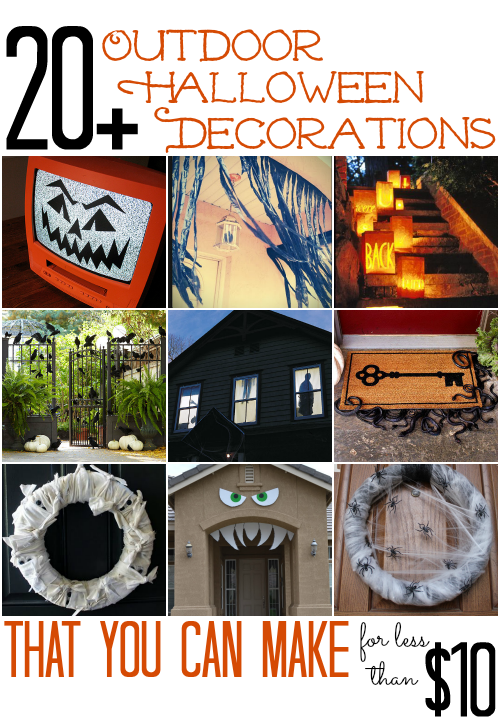 20 outdoor halloween decorations all cheap crafts - Cheap Halloween Decorating Ideas