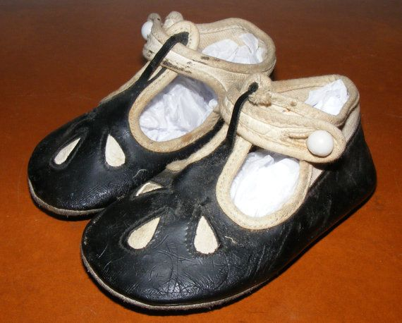 937527ff89221 Antique Victorian Edwardian Vintage Baby Toddler Shoes Two Tone ...