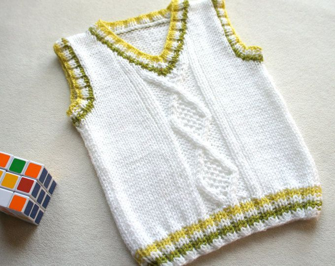 Children hand knitted wool vest, Knitted Baby/ Toddler Vest, Boy ...