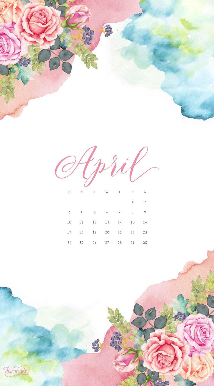 Calendar Wallpaper Phone : April phone wallpaper download dawnnicoledesgins g