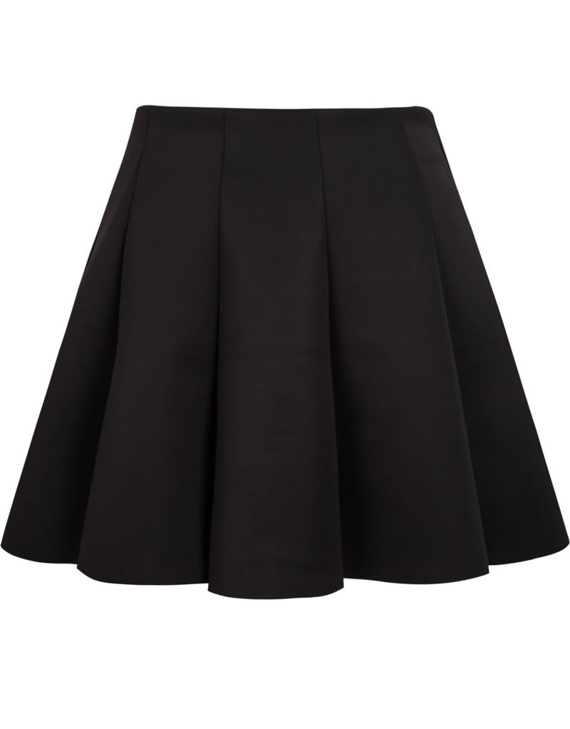 Shop Black High Waist Pleated Skirt online. Sheinside offers Black ...