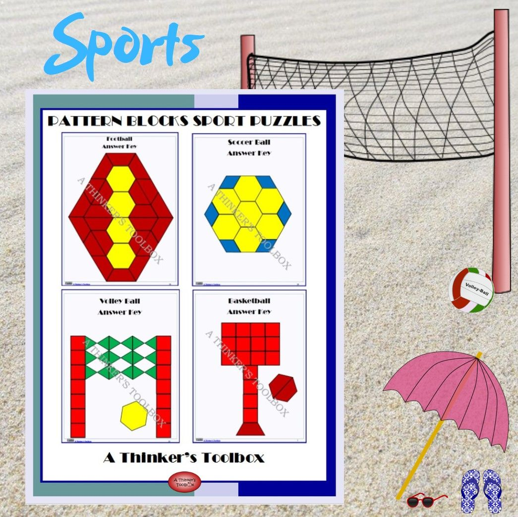 Volleyball Math In 2020 Pattern Blocks Fun Math Activities Fun Math Centers