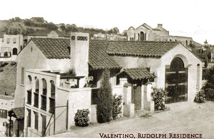 Vintage Hollywood Homes rudolph valentino's former home. | vintage hollywood photos