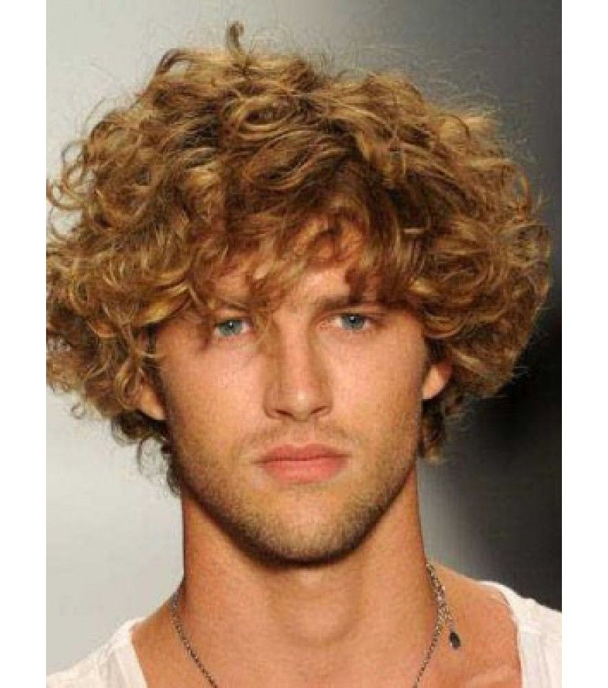 Short curly haircut for men menus long curly brown layered human hair wig in   human hair