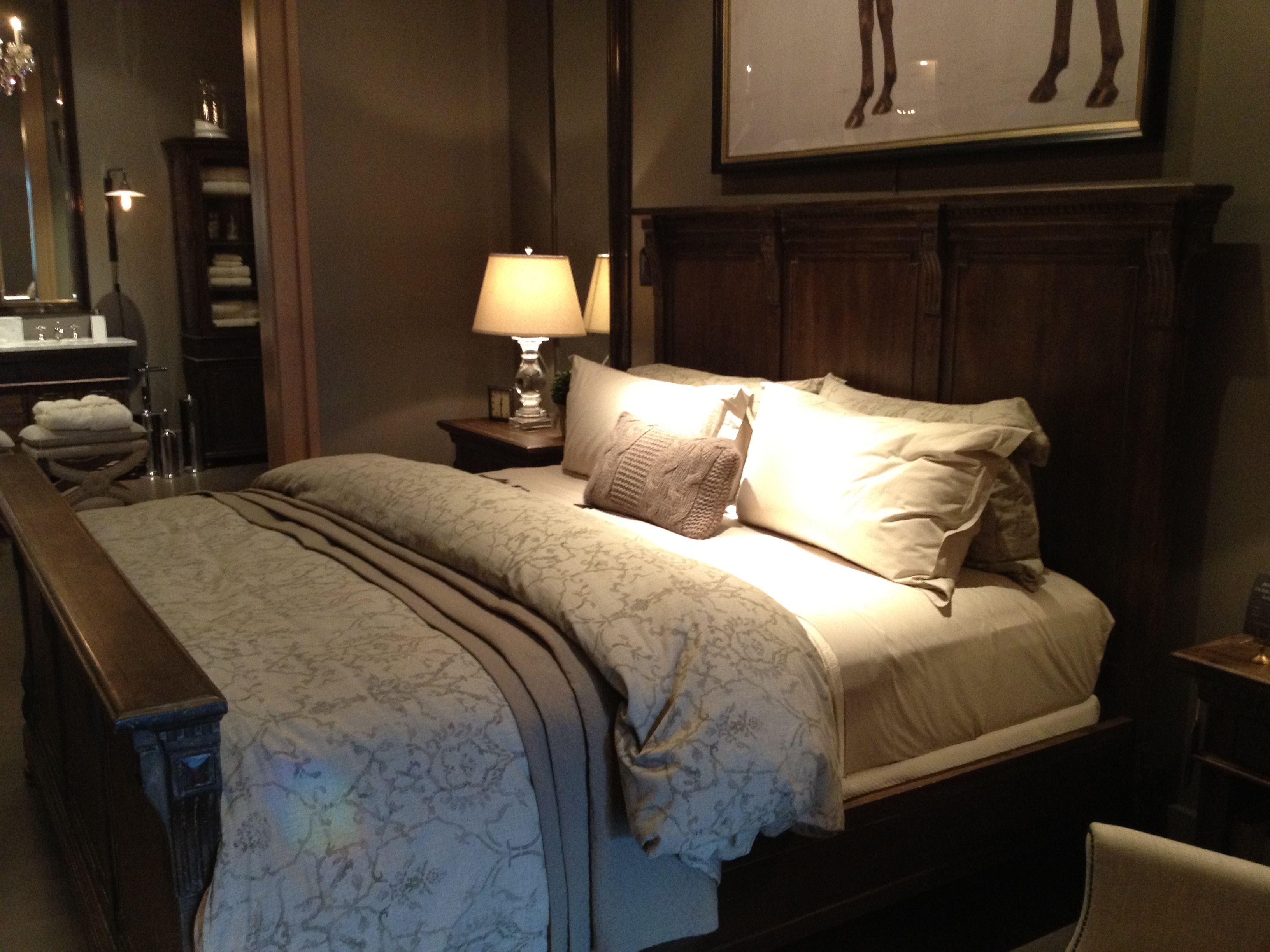 Restoration hardware bedroom - Restoration Hardware Bedroom B Likes Bedding And Bed Does Not Like Horse Print