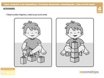Antes Y Despues Conocer Los Conceptos Temporales Tiempo Preescolar Secuencias Temporales Nociones Temporales