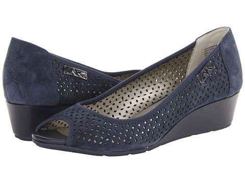 Womens Shoes Anne Klein AK Sport - Cadwyn8 Black Perf Nubuck