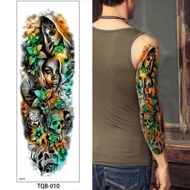Full Arm Temporary Tattoo Tattoos Arm Tattoo Temporary Tattoo