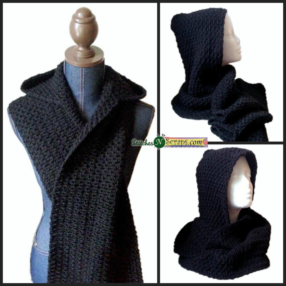 Darkness Hooded Scarf | Guantes y Gorros