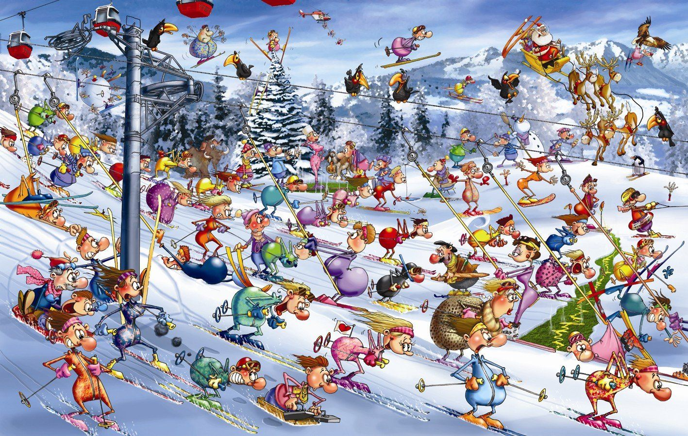 Piatnik 5351 - Ruyer, Christmas Ski 1000 Teile