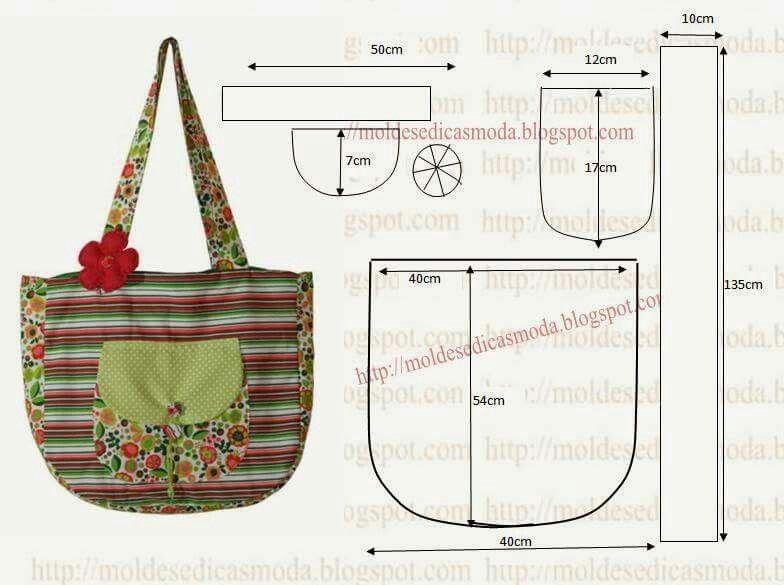 Patrones | Bags | Pinterest | Costura, Patrones y Patrones de bolso