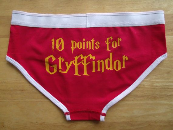 Inspired by Gryffindor house. These are printed on Bella Womens 6.5 oz. Logan Cotton/Spandex Boyfriend Brief they are 95% Cotton and 5% Spandex