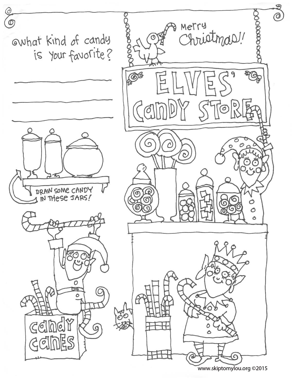 A cute Christmas coloring sheet is sure to keep kids