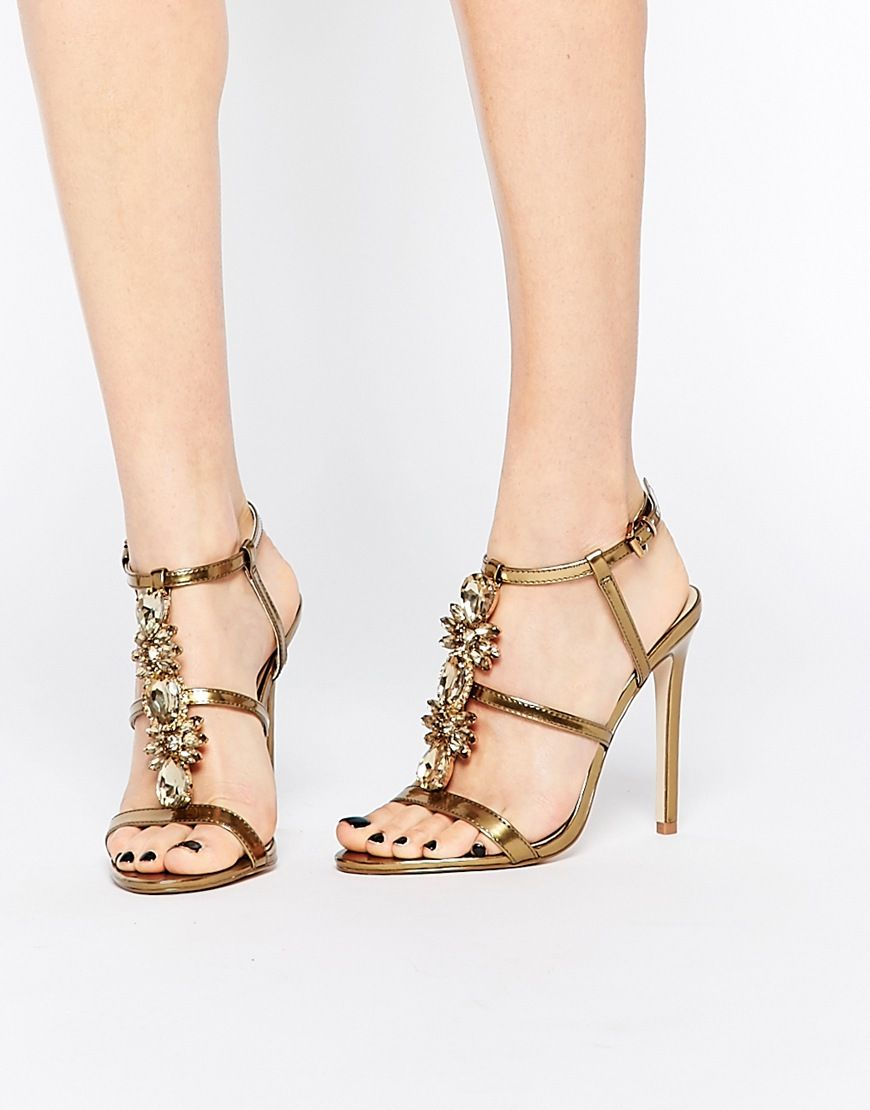 df794938b8f Image 1 of ASOS HEAVEN Heeled Sandals   shoes & homecoming & prom ...
