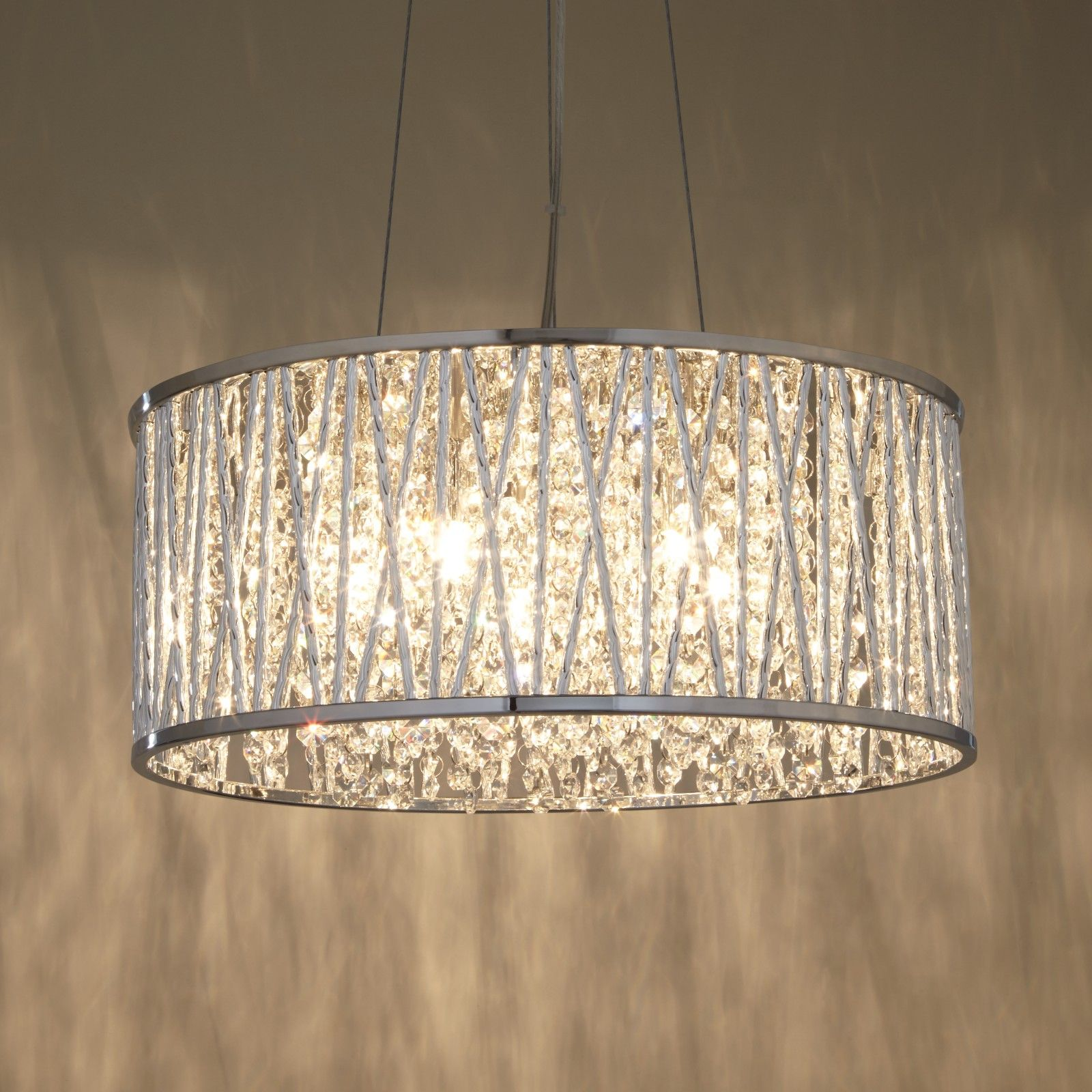 Bedroom Ceiling Lights John Lewis : Emilia drum crystal pendant light