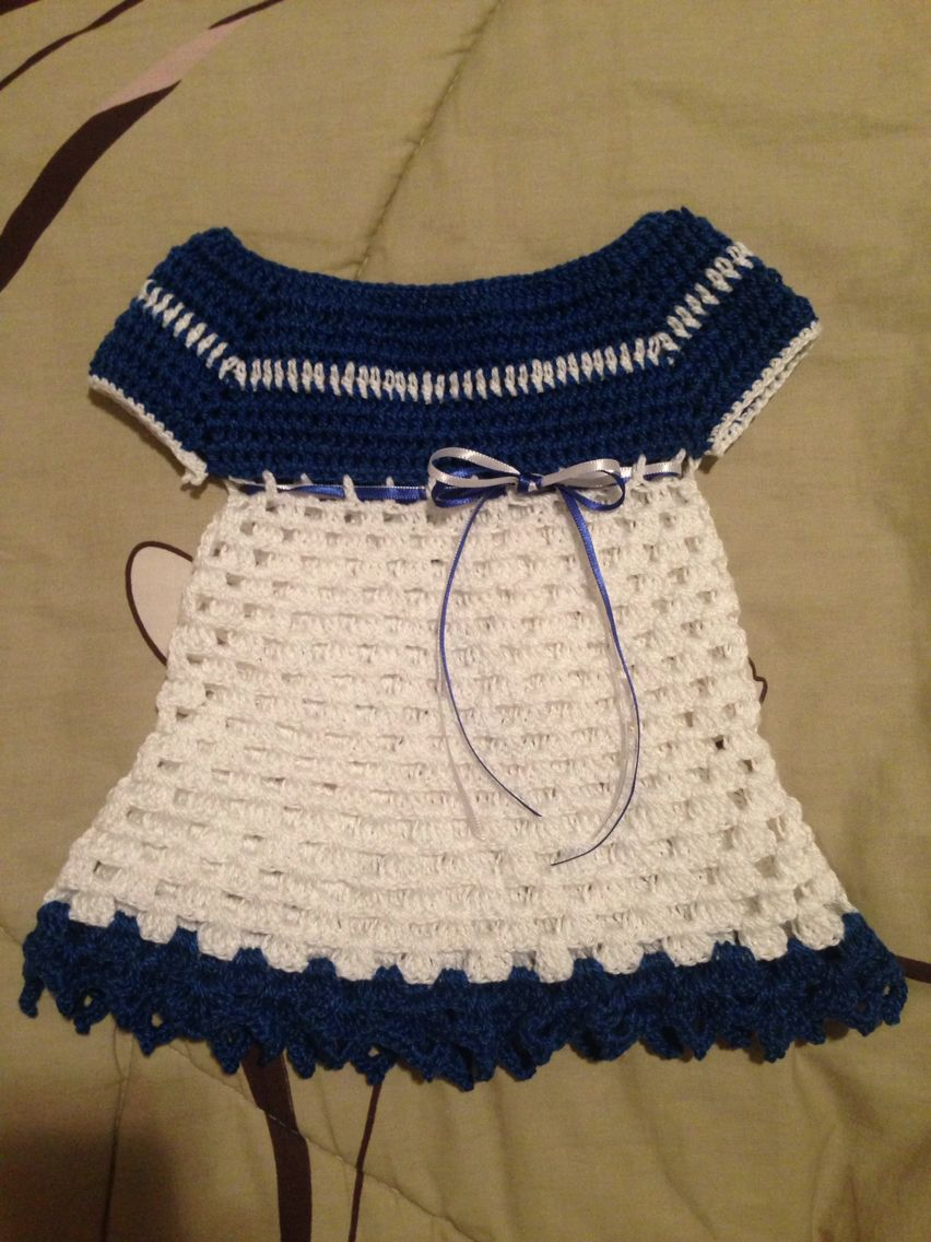 Vestidinho de crochê para bebê!