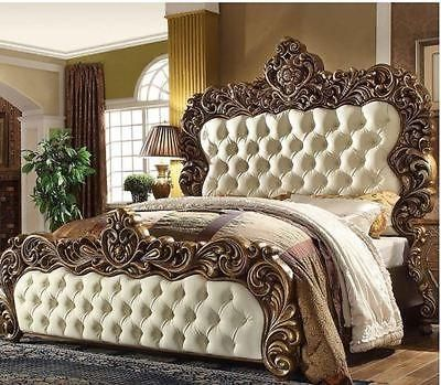 Classic Victorian King Bedroom Set 5pc Hd 8011 Free Shipping