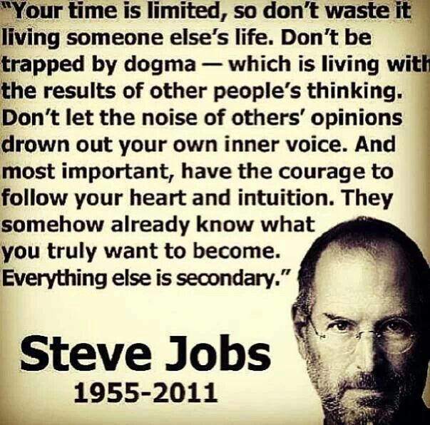 Follow dreams trust intuition