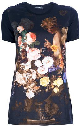 98f954877a1b06 ShopStyle: Dolce & Gabbana Cherub Print T-shirt | Clothes | Fashion ...